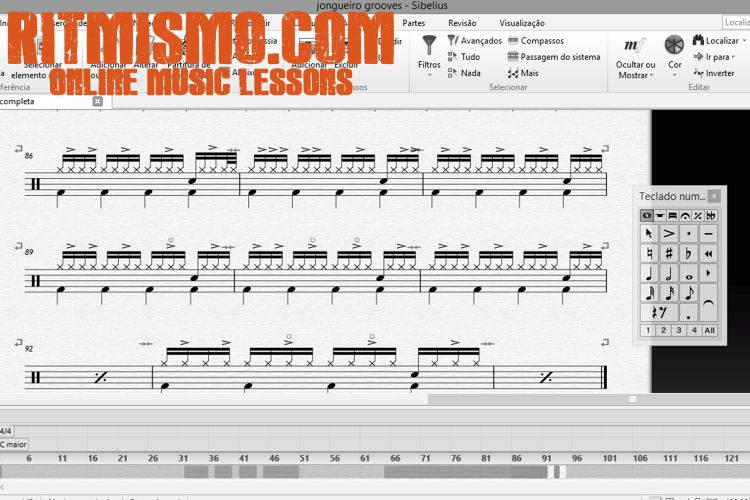 Sibelius 8 – Escrevendo partituras de bateria